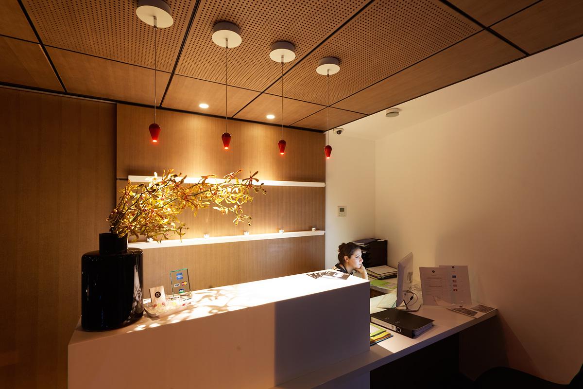 Eclairage de l'accueil de l'hôtel C2 Marseille