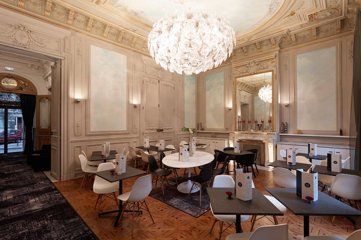 Eclairage du restaurant de l'hôtel C2 Marseille