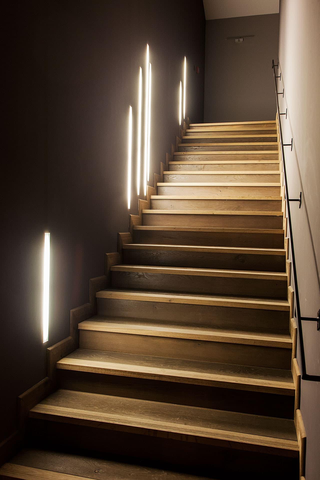 Eclairage des escaliers du Domaines de Manville