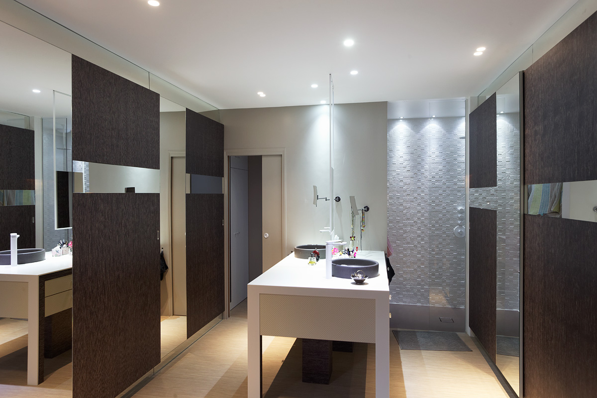 Eclairage de la salle de bain de la villa Sierra