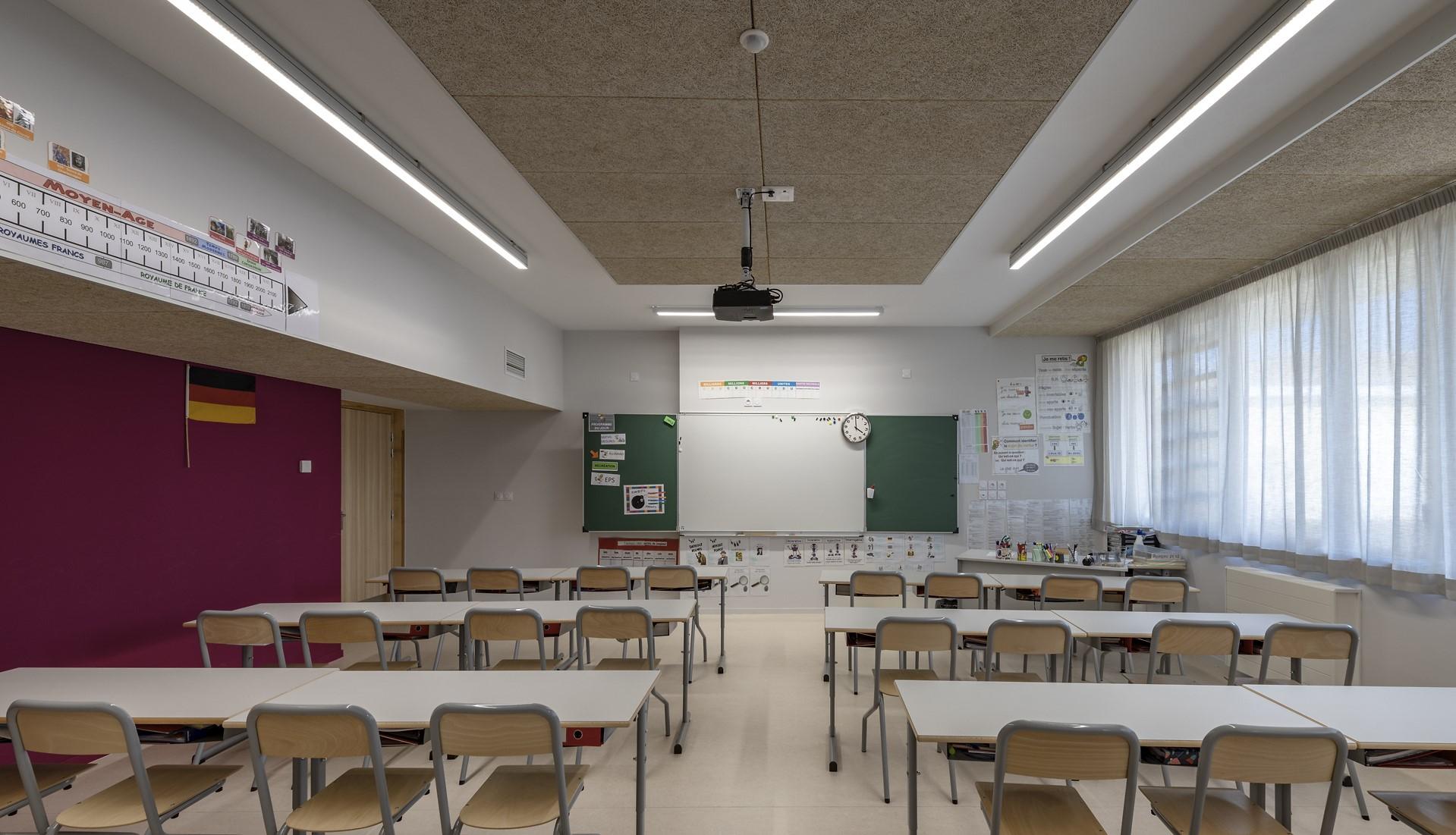salle de classe de l'école Simone Veil