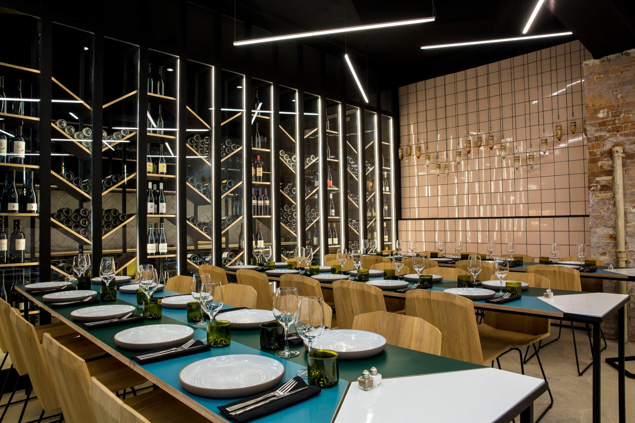 vue d'ensemble du restaurant Matière Brut