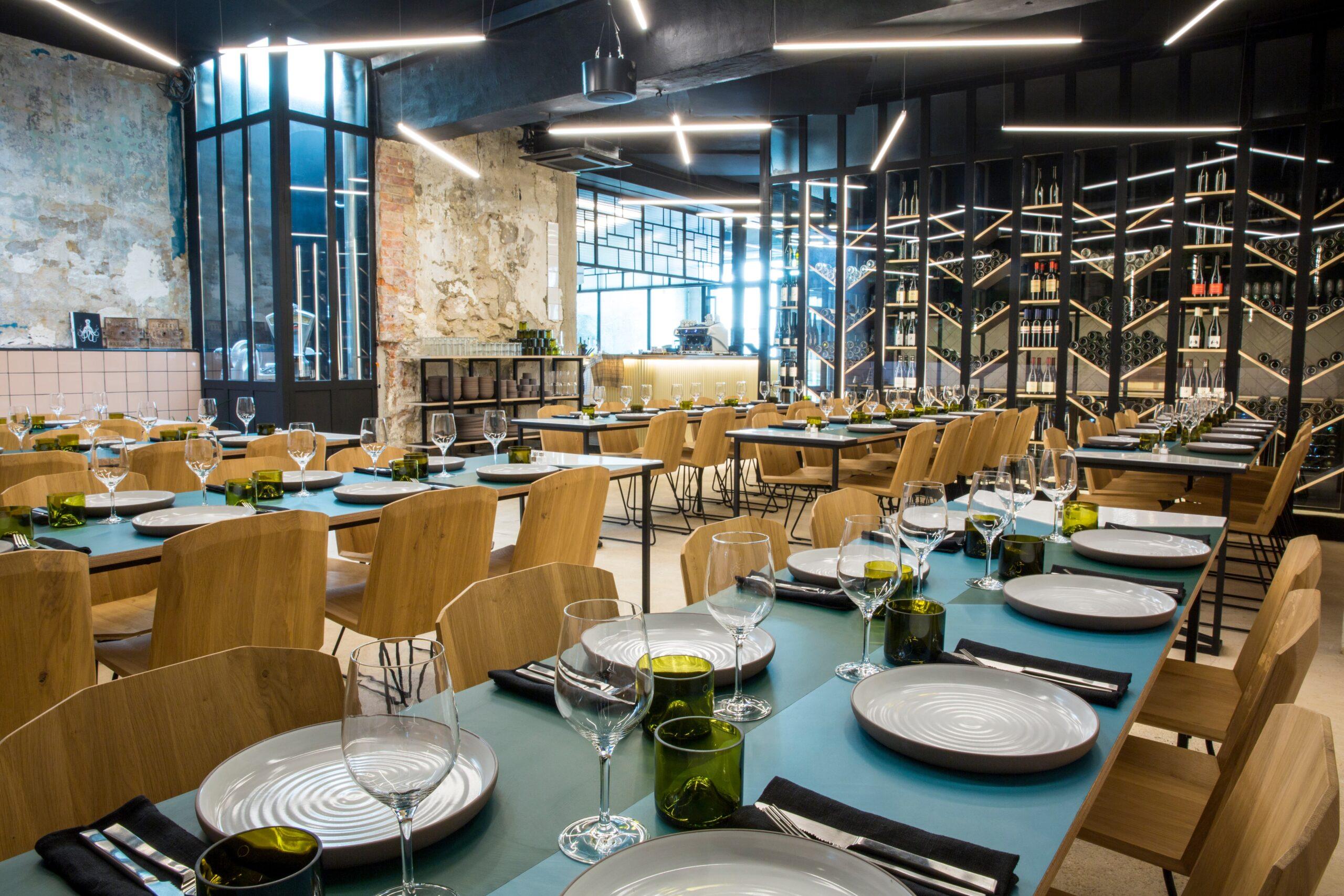 Focus sur l'eclairage du restaurant Matière Brut