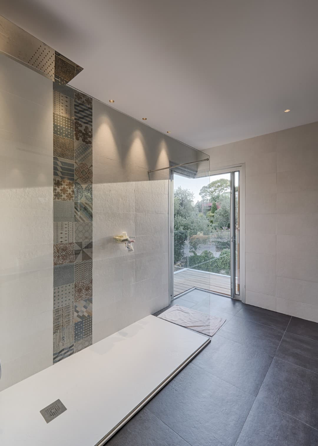 Eclairage de la salle de bain de la villa privée Echo