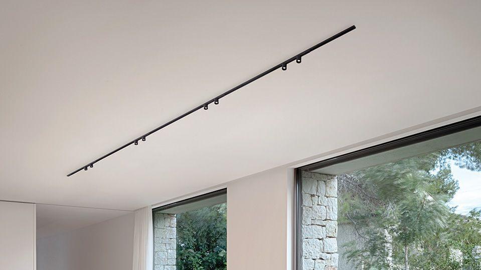 Minimal track d'arkoslight dans une cuisine lm5p lighting design