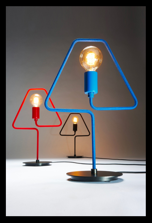 Lampe A-SHADE de chez Zava colorée
